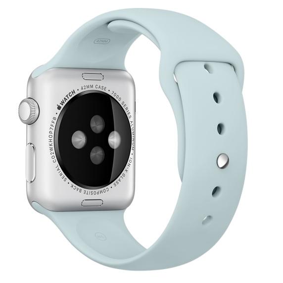 Спортивный ремешок бирюзового цвета для Apple Watch 38 мм, размеры S/M и M/L (MPUG2ZM/A)