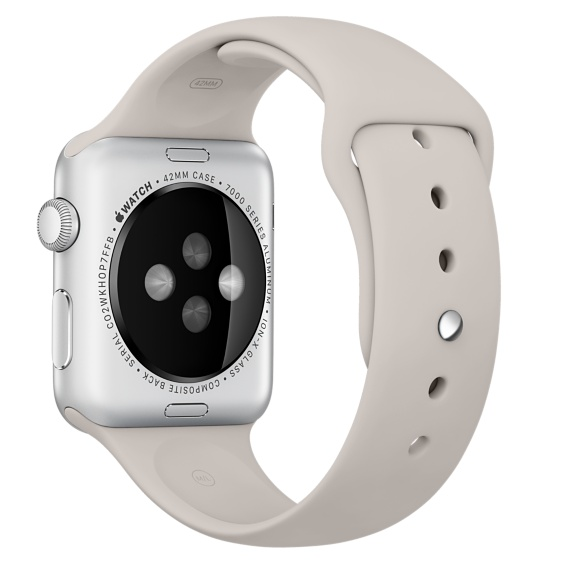 Спортивный ремешок бежевого цвета для Apple Watch 42 мм, размеры S/M и M/L (MLKY2ZM/A)