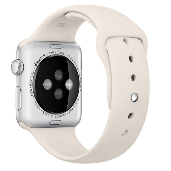Спортивный ремешок мраморно-белого цвета для Apple Watch 42 мм, размеры S/M и M/L (MLL12ZM/A)
