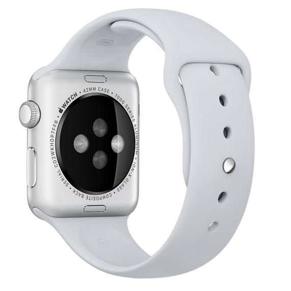 Спортивный ремешок дымчатого цвета для Apple Watch 42 мм, размеры S/M и M/L (MLJU2ZM/A)