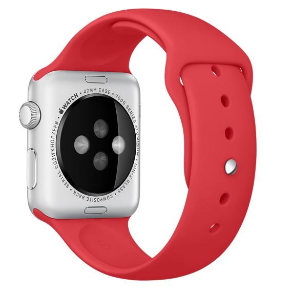 Спортивный ремешок (PRODUCT)RED для Apple Watch 42 мм, размеры S/M и M/L (MQXE2ZM/A)