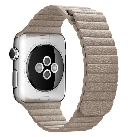 Кожаный ремешок бежевого цвета для Apple Watch 42 мм, размер L (MJ4Y2ZM/A)