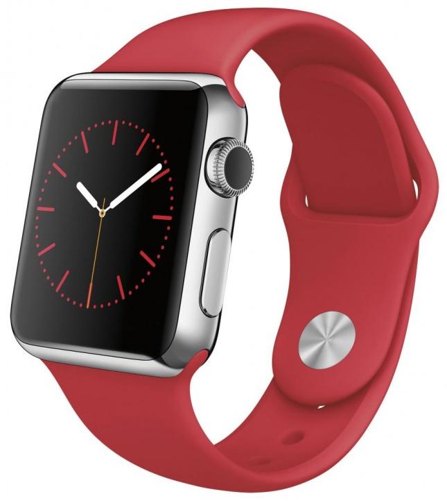 Apple Watch Steel Корпус 42 мм из нержавеющей стали, спортивный ремешок (PRODUCT)RED