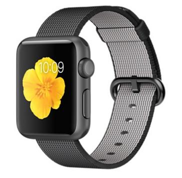Apple Watch Sport Корпус 38 мм, алюминий цвета «серый космос», ремешок из плетёного нейлона чёрного цвета (MMF62)