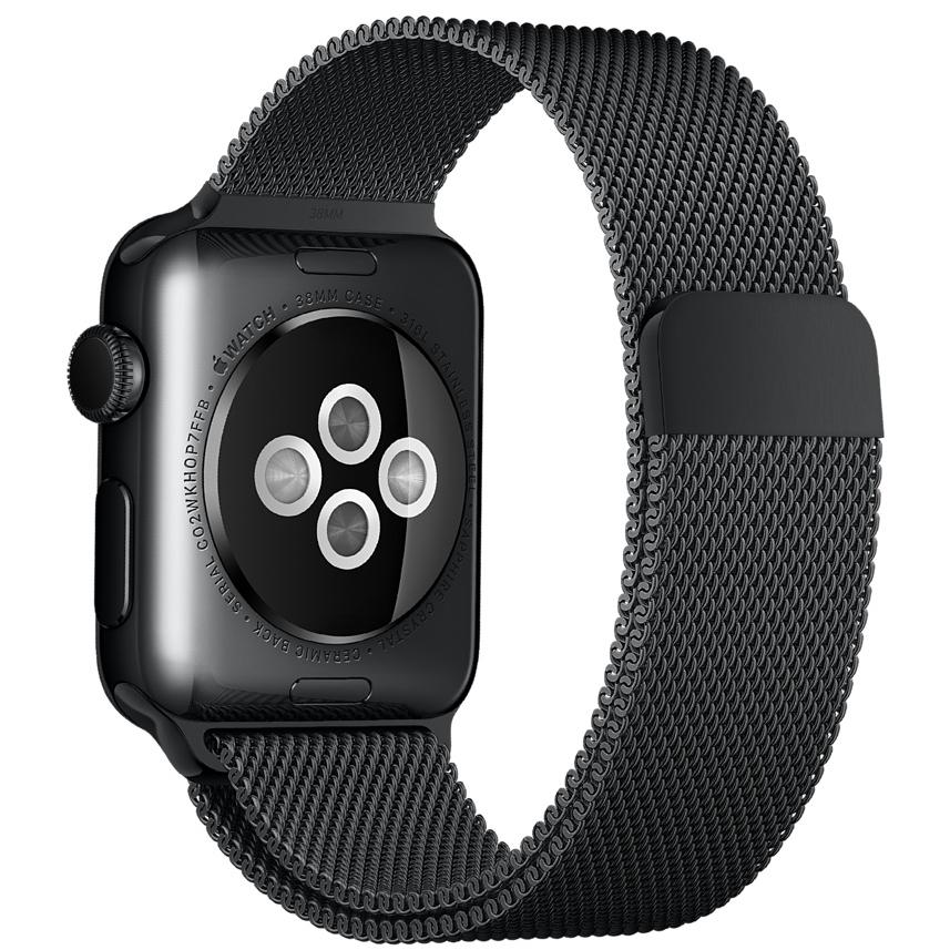 Миланский сетчатый браслет цвета «чёрный космос» для Apple Watch 42 мм (MLJH2ZM/A)