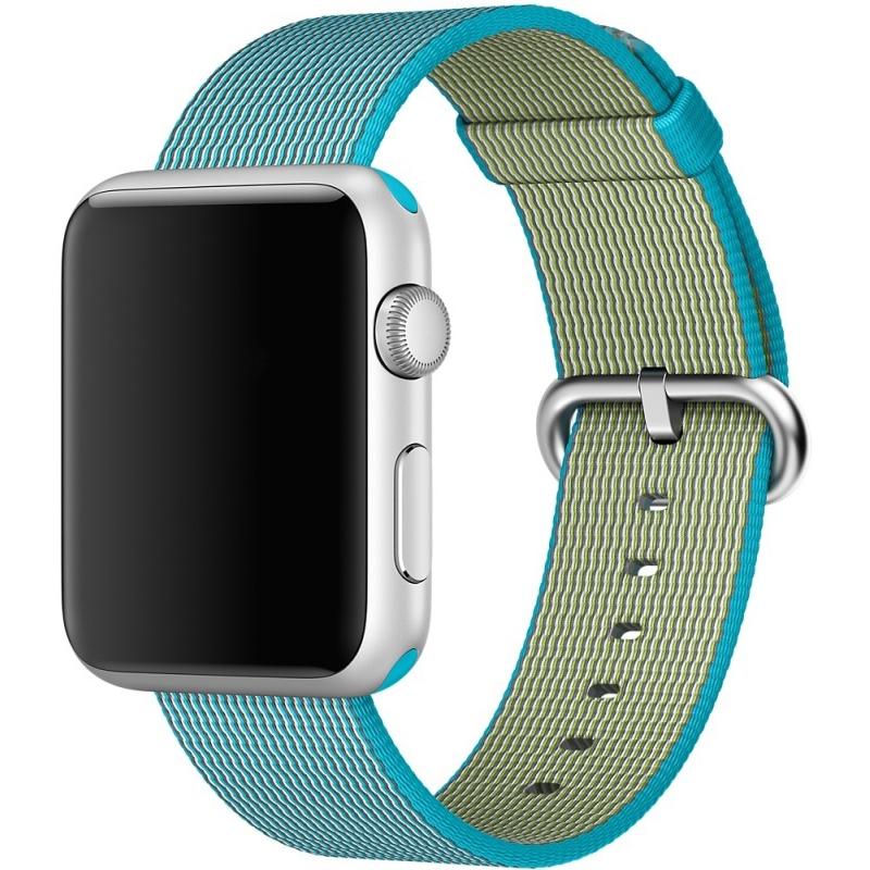 Ремешок из плетёного нейлона цвета «аквамарин» для Apple Watch 38 мм (MM9K2ZM/A)