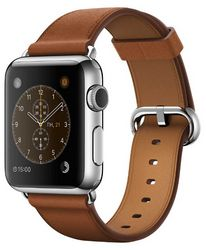 Смарт-часы apple watch 42mm stainless steel с чорним спортивным ремешком подключить интернет через мобильный телефон samsung