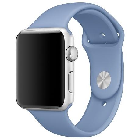 Спортивный ремешок лазурного цвета для Apple Watch 38 мм, размеры S/M и M/L (MPUJ2ZM/A)