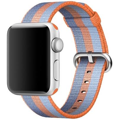 Ремешок из плетёного нейлона оранжевого цвета, в полоску для Apple Watch 38 мм (MPVV2ZM/A)
