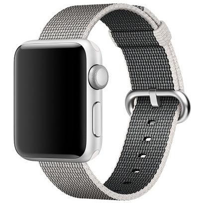 Ремешок из плетёного нейлона жемчужного цвета для Apple Watch 38 мм (MM9T2ZM/A)