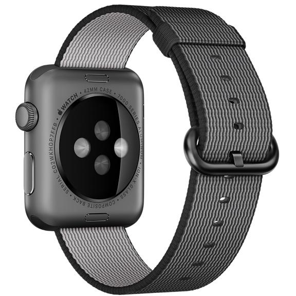 Ремешок из плетёного нейлона чёрного цвета для Apple Watch 38 мм (MM9L2ZM/A)