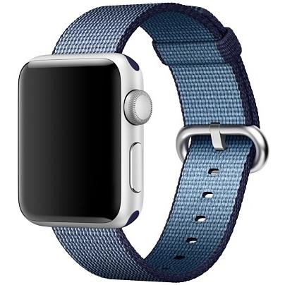 Ремешок из плетёного нейлона цвета «ультрамарин/голубое озеро» для Apple Watch 42 мм (MP232ZM/A)