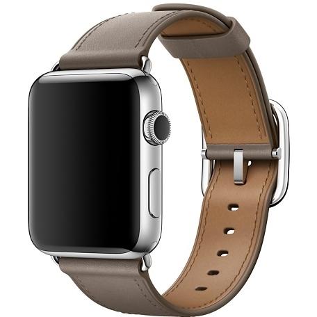 Ремешок платиново-серого цвета с классической пряжкой для Apple Watch 38 мм (MPWG2ZM/A)