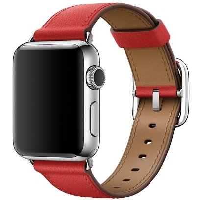 Ремешок красного цвета с классической пряжкой для Apple Watch 38 мм (MPWE2ZM/A)