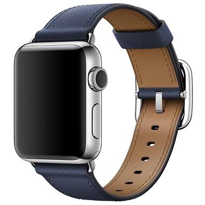Ремешок тёмно-синего цвета с классической пряжкой для Apple Watch 38 мм (MPWD2ZM/A)