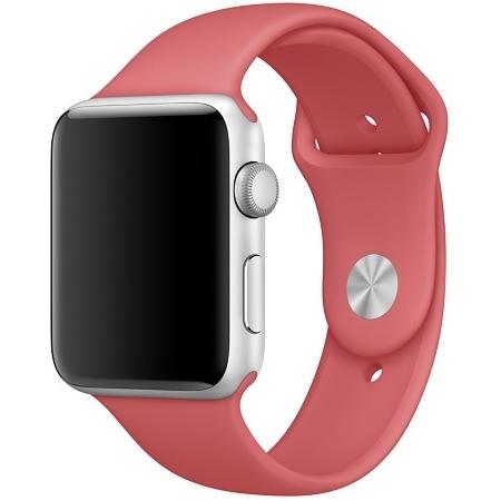 Спортивный ремешок цвета «розовая камелия» для Apple Watch 42 мм, размеры S/M и M/L (MPUW2ZM/A)