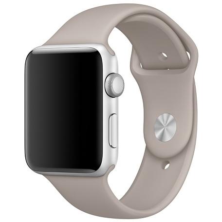 Спортивный ремешок цвета «морская галька» для Apple Watch 42 мм, размеры S/M и M/L (MPUU2ZM/A)