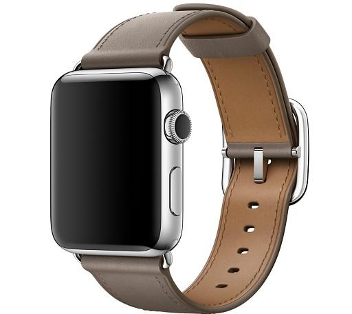 Ремешок платиново-серого цвета с классической пряжкой для Apple Watch 42 мм (MPX12ZM/A)