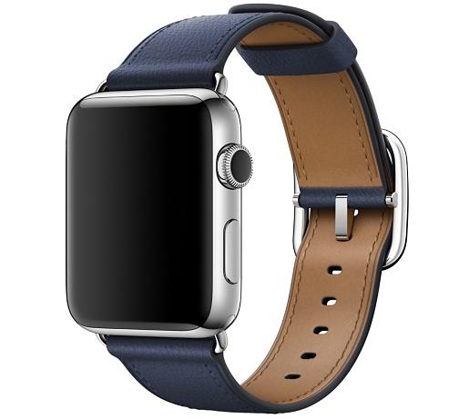 Ремешок тёмно-синего цвета с классической пряжкой для Apple Watch 42 мм (MPWV2ZM/A)