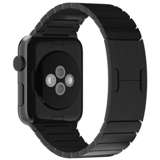 Блочный браслет цвета «чёрный космос» для Apple Watch 38 мм (MJ5H2ZM/A)