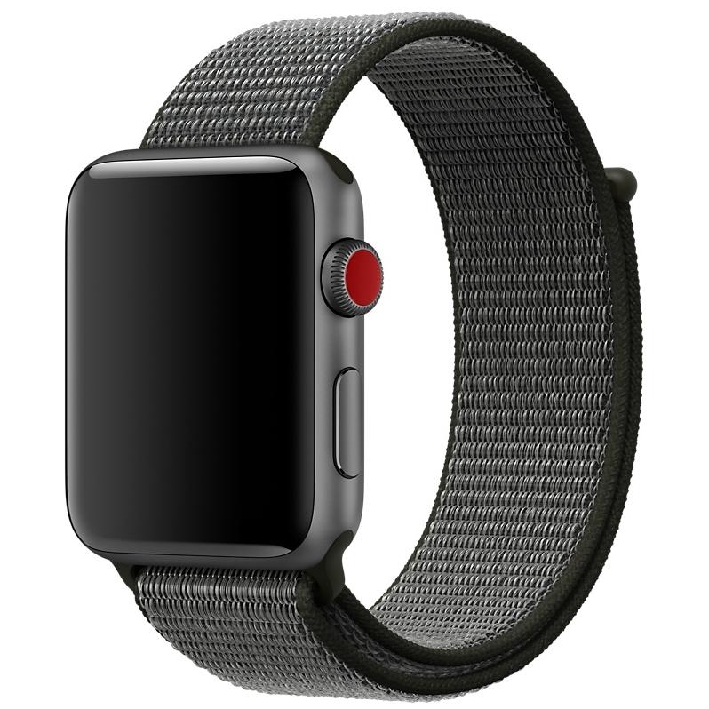 Спортивный браслет чёрного цвета для Apple Watch 38 мм (MQVX2ZM/A)
