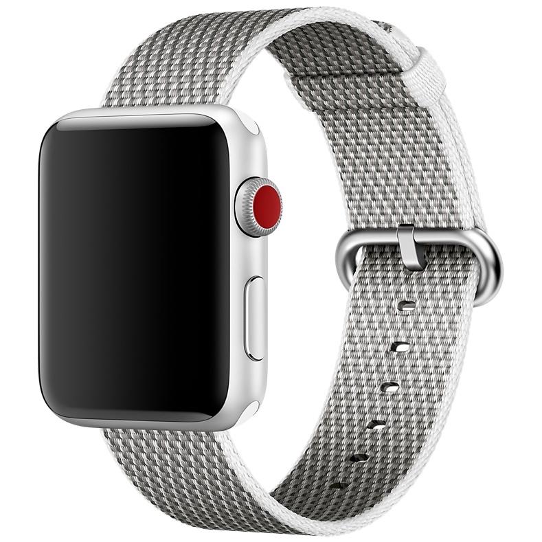 Ремешок из плетёного нейлона белого цвета, сетчатый узор для Apple Watch 38 мм (MQVA2ZM/A)