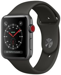Часы Apple Watch Series 3 GPS + Cellular, 42mm Space Gray Aluminum Case with Gray Sport Band (MR2X2)