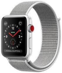Часы Apple Watch Series 3 GPS + Cellular, 38mm Silver Aluminum Case with Seashell Sport Loop (MQJR2)