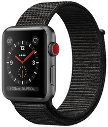 Часы Apple Watch Series 3 GPS + Cellular, 38mm Space Gray Aluminium Case with Black Sport Loop (MRQE2)