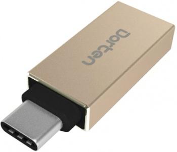 Адаптер Dorten USB-C to USB 3.0 (золотой)