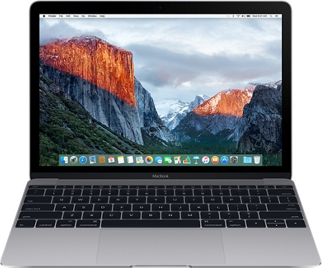 "Ноутбук Apple MacBook 12"" Retina 8х256 (MLH72RU/A) (серый космос)"