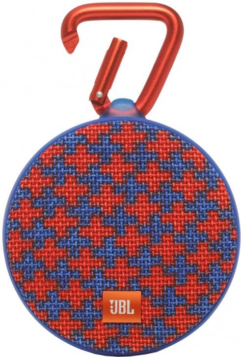 Портативная колонка JBL Clip 2 Malta (с красно-синем орнаментом)
