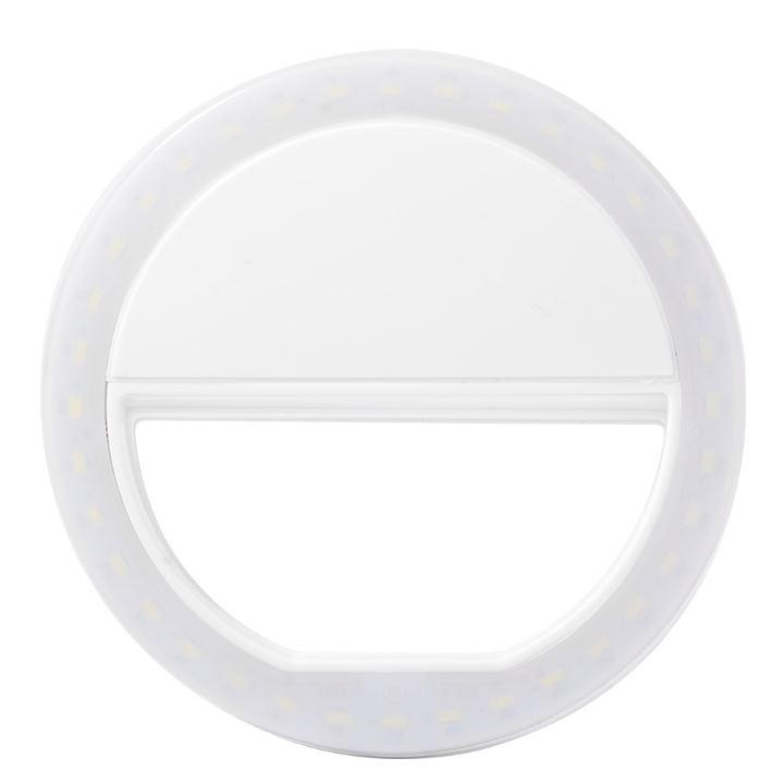 Протативная вспышка для селфи Selfi Ring Light (белая)