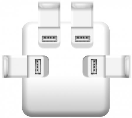 Сетевое зарядное устройство iconBIT FTB4U6A  4xUSB 6A  (серебристый)