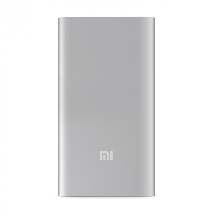 Портативное зарядное устройство Xiaomi Mi Power Bank 5000 mAh (серебро)