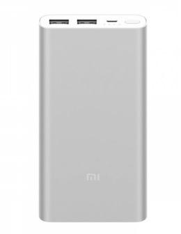 Портативное зарядное Xiaomi Mi Power Bank ver.2i входа 2 USB 10000mah (белый)
