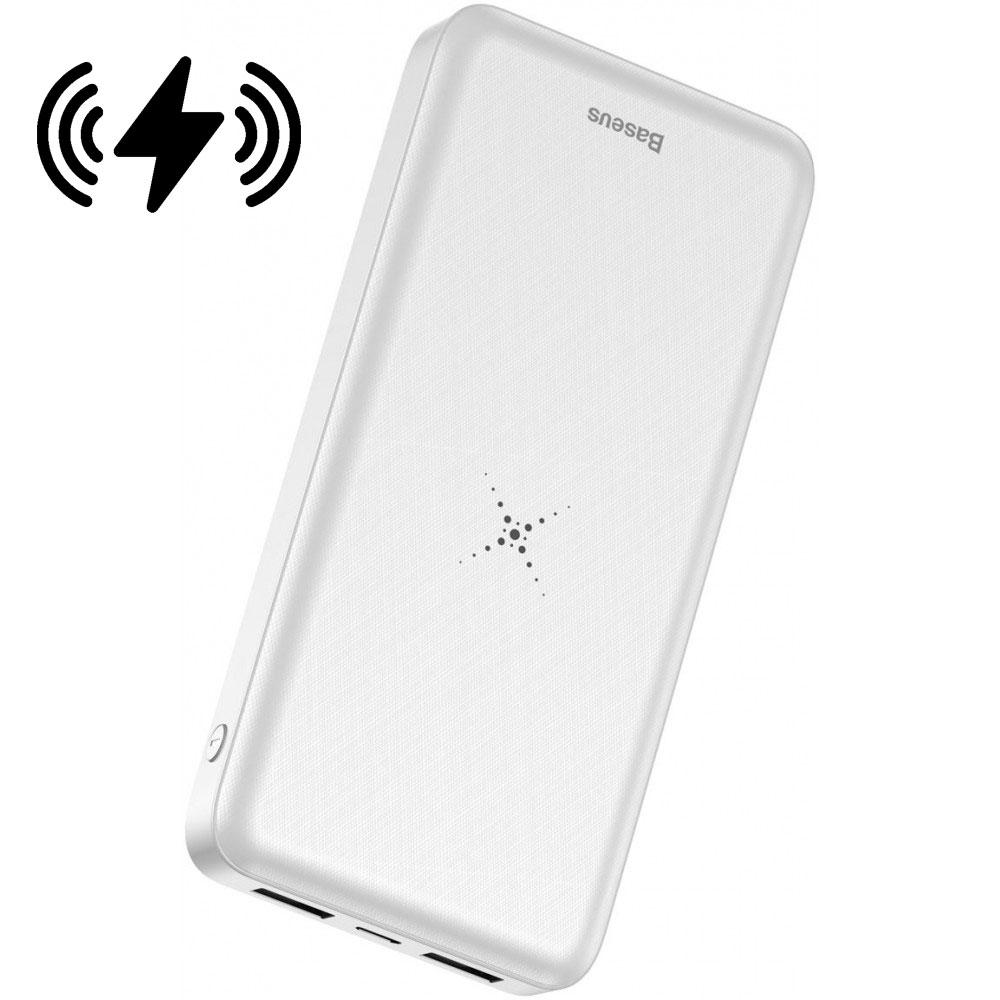 Портативное зарядное устройство Baseus M36 Wireless Charger 10000 mAh с функцией беспроводного заряда (белый)