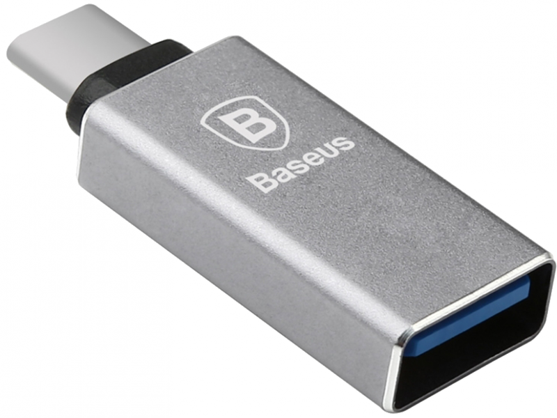 Адаптер USB Type-C BASEUS Sharp Series (серебро)