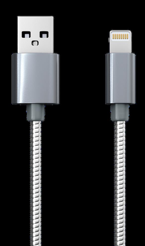 Дата-кабель Red Line S7 (металлическая обмотка) Lightning для Apple