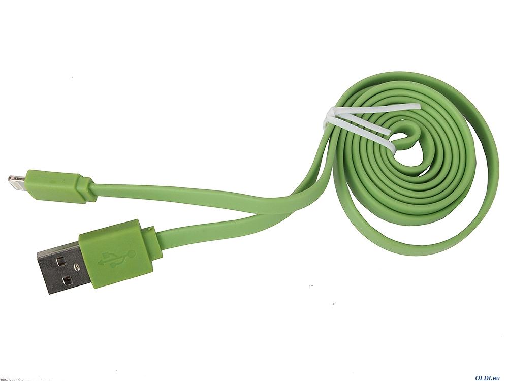 Кабель Onext Premium USB Lightning 1m плоский (зеленый)