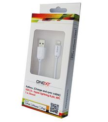 Кабель Onext Premium USB Lightning 1m (белый)