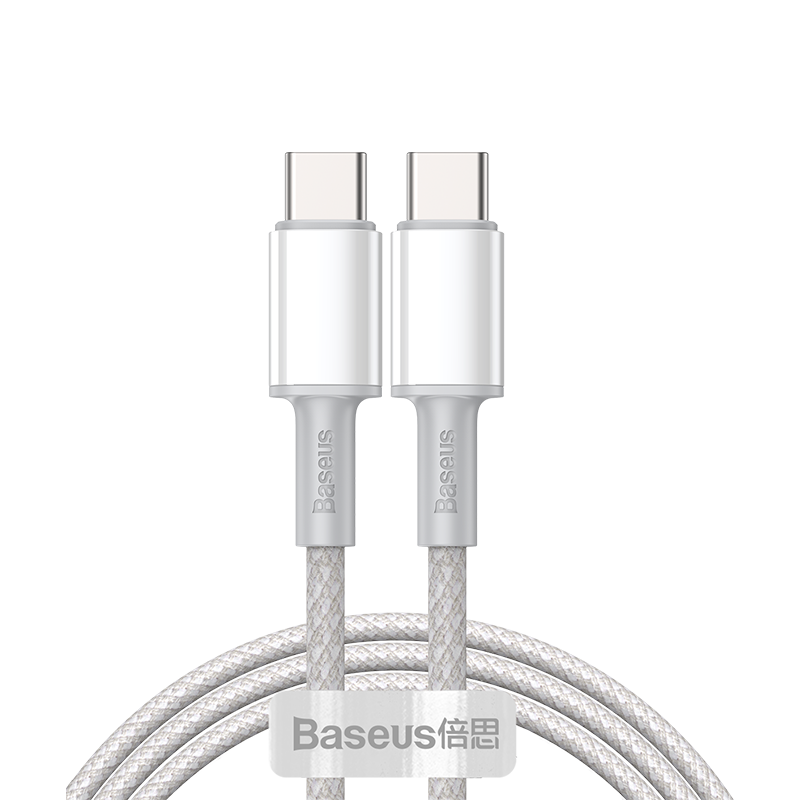Кабель Baseus High Density Braided Fast Charging Data Cable Type-C to Type-C 100W 1m (CATGD-02) белый