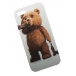 Чехол клип-кейс   силиконовый Медведь Тэд Курильщик для iPhone 6/6S (белый)