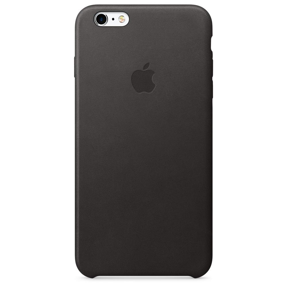 Кожаный чехол для iPhone 6s Plus – чёрный