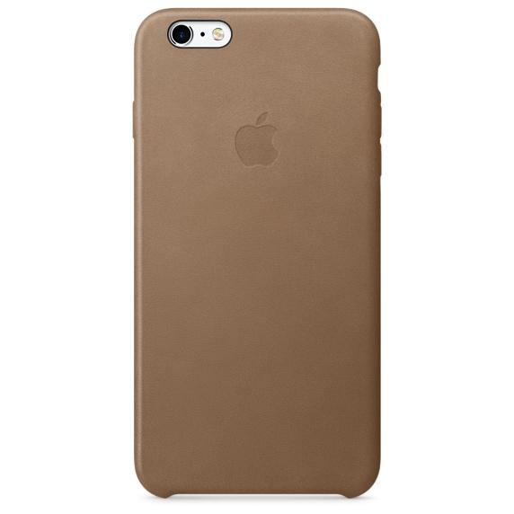 Кожаный чехол для iPhone 6s Plus – коричневый