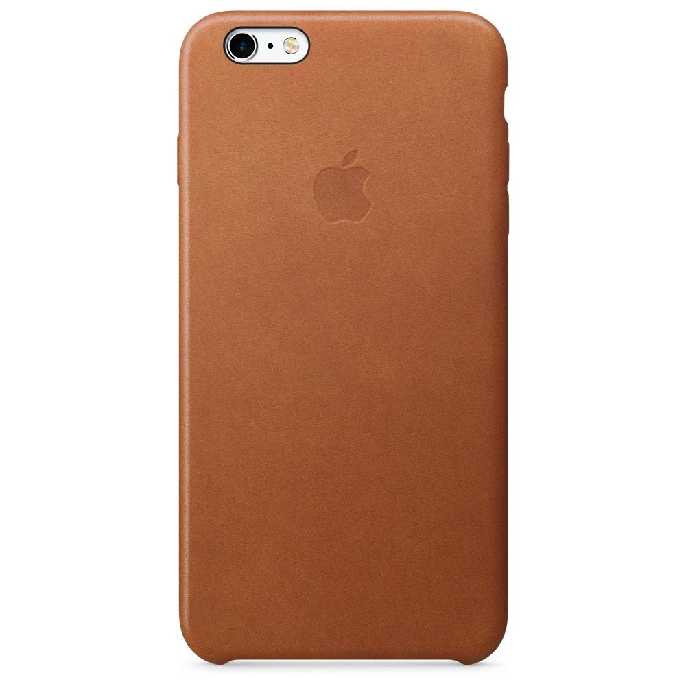 Кожаный чехол для iPhone 6s Plus – золотисто-коричневый