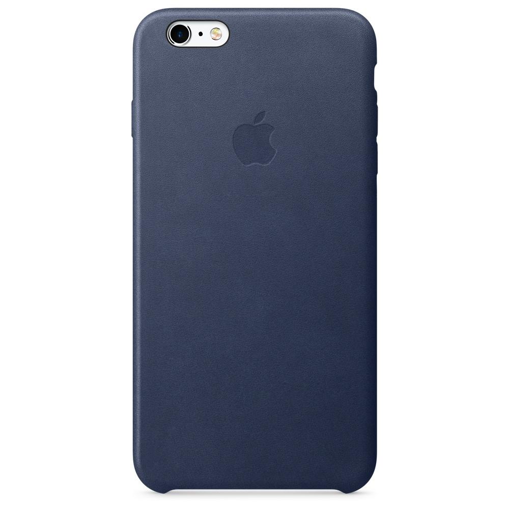 Кожаный чехол для iPhone 6s Plus – тёмно-синий