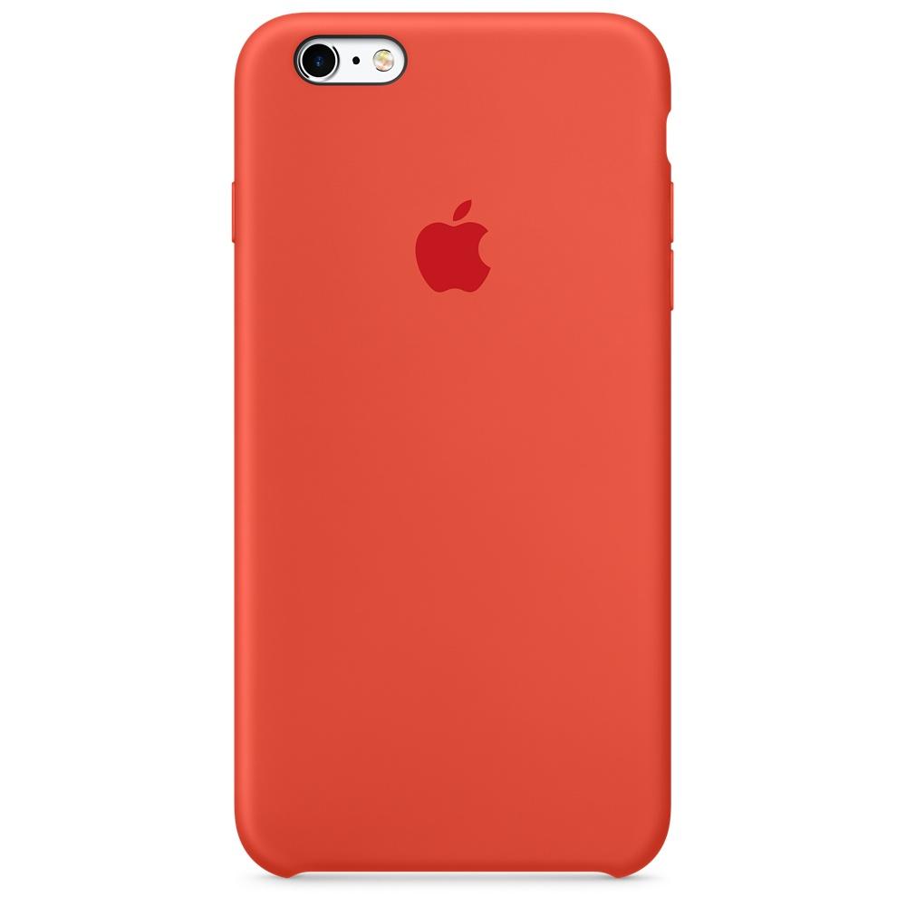Силиконовый чехол для iPhone 6s Plus – оранжевый