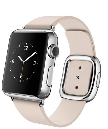 Apple Watch Soft Pink Корпус 38 мм размер L, нержавеющая сталь, светло-розовый ремешок с современной пряжкой(38mm Stainless Steel Case with Soft Pink Modern Buckle) (MJ392)