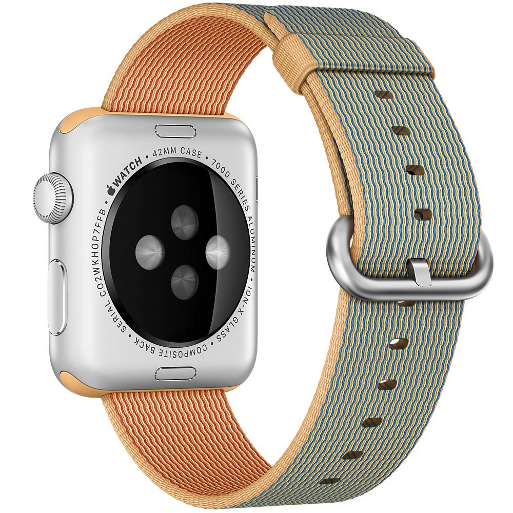 Ремешок из нейлона для Apple Watch 38мм коричневый (реплика)